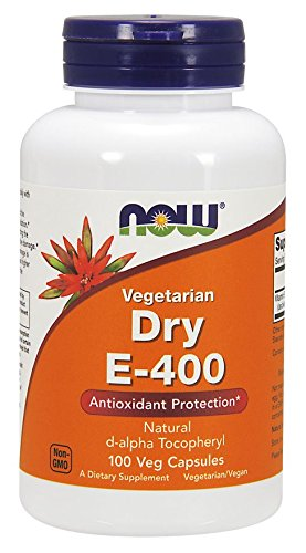 400 Dry Caps - Now Foods Vitamin E-400 Dry - 100 Caps (2 pack)