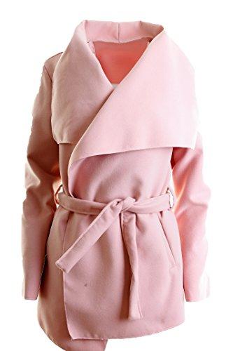 pour Avec Rose unique Manteau Courte ceinture femme Taille agwaEdq