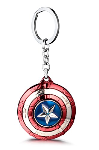 REINDEAR The Avengers Marvel Movie Comics Captain America Spinning Shied Metal Keychain US Seller