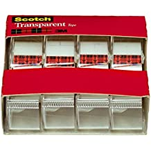 Scotch Transparent Tape, Versatile, 3/4 x 850 Inches, 4 Rolls (4814)