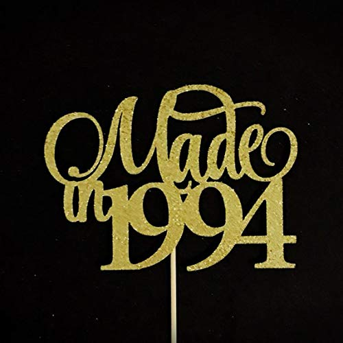 Made In 1994 Cake Topper, 25th Birthday Cake Topper, 25th Anniversary Cake Topper, 25 Cake -