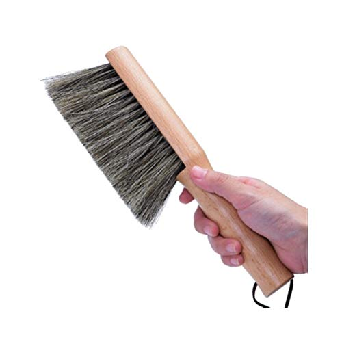 HXSD Bed Brush, Dusting Brush, Bedroom Soft Hair Broom, Home Beech Horse Hair Bed Brush (Color : Brown) ()