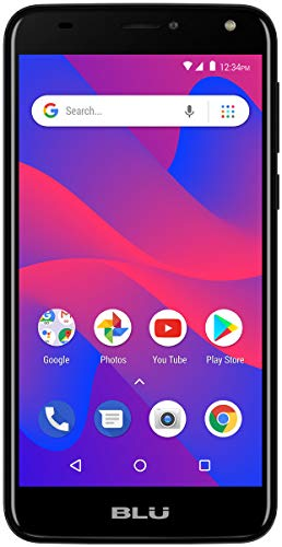 Blu C6 Unlocked Cell Phone 5.5'' Display 16GB/1GB Room Android V.8.1 Oreo ATT,Tmobile Metro PCS Cell Phone(Black) (Renewed) (Blu Cell Phone Unlocked Quad Core)