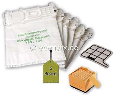eVendix Bolsa de aspiradora | 6 Bolsas de Polvo + microfiltro ...