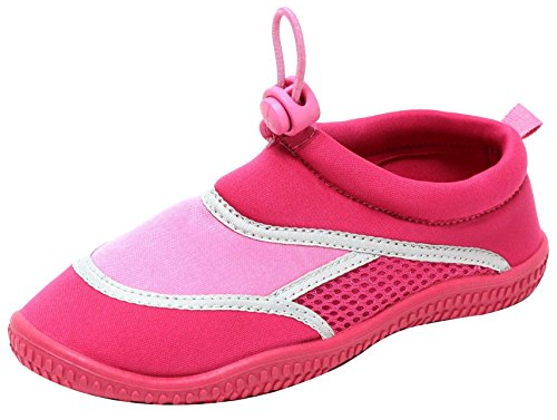 NEOPREN Mädchen Kinder Aqua Schuhe Badeschuhe Schwimmschuhe Wasserschuhe beach water swim shoes Strandschuhe Badepantoletten Slipper rosa pink