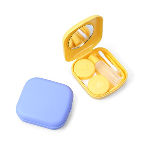 Realistic Pocket Mini Contact Lens Case Kit Easy Carry Mirror Container Suitable For Travel Kit Box Eyes Contact Lens Outdoor Accessaries Fixing Prices According To Quality Of Products Eyewear Accessories