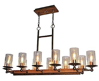 Artcraft Lighting Legno Rustico Island Light, Light Pine/Burnished Brass