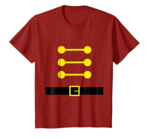 Kids Cute Christmas Toy Soldier DIY Costume T Shirts for Kids 12 Cranberry -