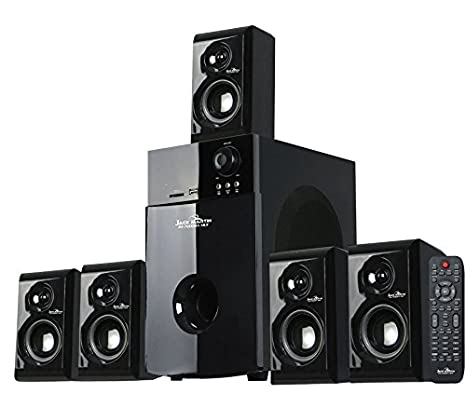 Jack Martin 7600 5.1 Bluetooth/SD Card/Pendrive Multimedia Home Theatre Speaker System with Built in FM Radio Home Theater Systems at amazon