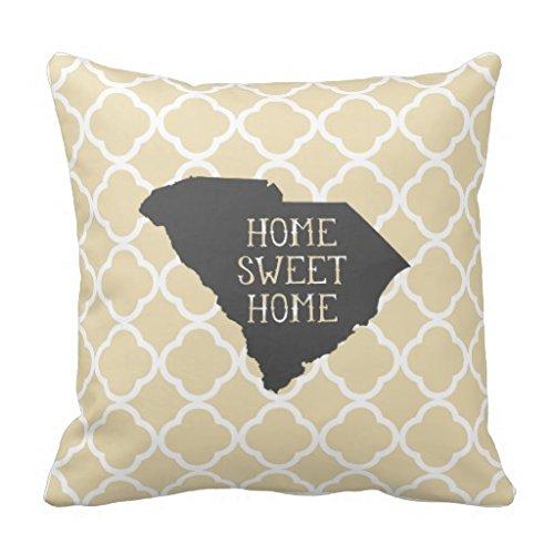 Home Sweet Home Carolina del Sur Funda de almohada: Amazon ...