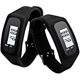 DZT1968® Digital LCD Pedometer Run Walking Distance Watchband Bracelet Fitness Trackers