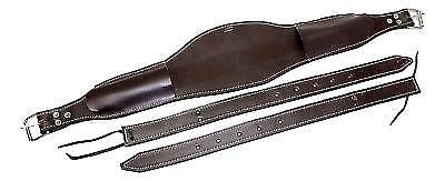 """Brand Black Smooth Leather 6/"""" Wide Back Cinch// Girth w// Billets Horse Tack D.A"""