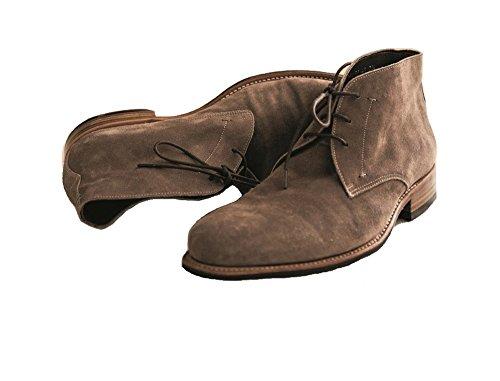 Prime Shoes Cardiff Hellbraun Suede Savana Rahmengenäht Chukka Boot aus feinem Kalbsveloursleder