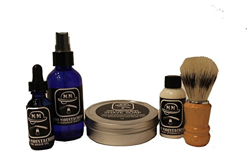 Mini Moustachery Shaving Kit w/Boar hair Shaving Brush - ...