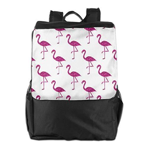 Sparkly Flamingo Outdoor Shoulder Backpack Tavel Bag Daypack School Laptop Bag for Women Men