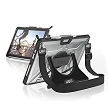 UAG Microsoft Surface Pro (2017) & Surface Pro 4 with Hand Strap & Shoulder Strap Plasma Feather-Light Rugged [ICE] Military Drop Tested Case