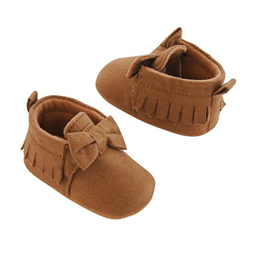 Carter's Girls' Baby Soft Sole Moccasin 6-9 Crib Shoe, Tan, 6-9 Months Regular US Infant - Baby Girl Outfits With Shoes