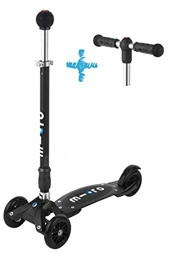 Micro Kickboard Compact Interchangeable Scooter (Black)