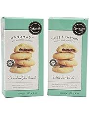 Cookie It Up Shortbread Cookie's 2 Pack Bundles | Handmade | Biscuits | Snacks (Chocolate)