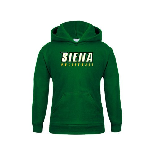 Siena Youth Dark Green Fleece Hoodie Volleyball