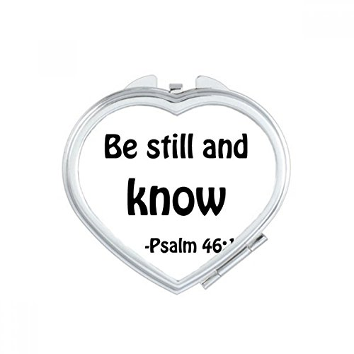 DIYthinker Be Still And Know Christian Quotes Heart Compact Makeup Mirror Portable Cute Hand Pocket Mirrors Gift by DIYthinker