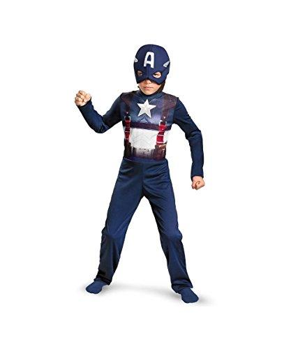 Child Captain America New Movie Retro Boys Basic (New Captain America Costumes)