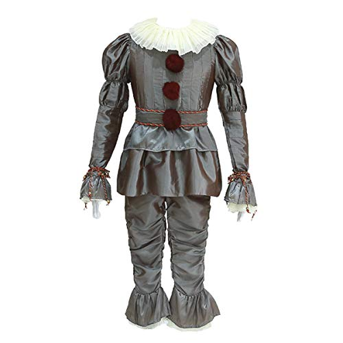 iCos Men's Adult Dancing Clown Joker Dressed Up Halloween Costume Party Outfit (Medium) -