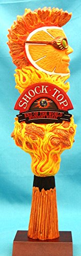 (Shock Top End Of The World Midnight Wheat 12in Resin Tap Handle w Display Stand)