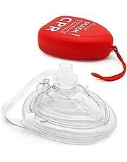 AIESI® Pocket Mask reanimatiemasker voor professionele mond-op-mond reanimatie met terugslagklep en filter # CPR Mask Resuscitator