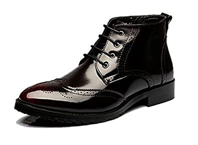 003a0ea98e Amazon.com | Beinfaith Men's Classic Leather Brogues Oxfords Ankle Dress  Boots | Oxford & Derby