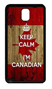 Galaxy Note 3 Case, Note 3 Cases - Keep Calm I'M Canadian Soft Rubber Bumper Case for Samsung Galaxy Note 3 N9000 TPU Black
