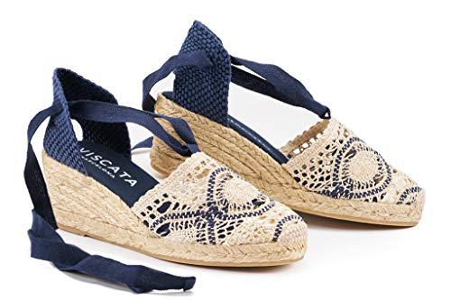 VISCATA Barcelona Escala - Crochet White Navy EU39 ()