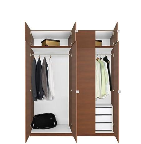 Alta Wardrobe Closet Package   3 Drawer Package   Tall   Wardrobe