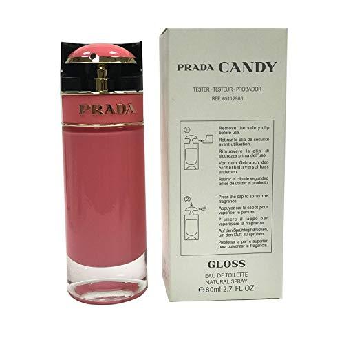 Prada Candy Gloss Eau De Toilette Spray For Women, 2.7 Ounce (Plain Box/Tester) (Fragrances Tester)