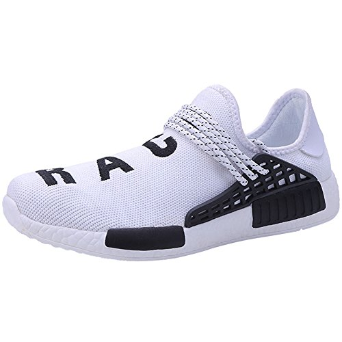 39 Sneaker 47 Banda Casual wealsex Lacci Uomo Bianco Scarpe Senza Sportive Elastica delle Scarpe Scarpe qT7fSUx