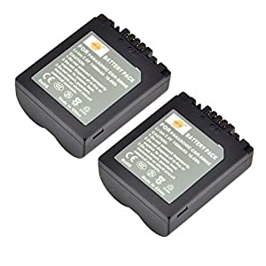 DSTE 2x CGR-S006E Replacement Li-ion Battery for Panasonic DMC-FZ28 FZ18 FZ28 FZ30 FZ30BB FZ30EEK FZ30EGS Camera as CGA-S006 DMW-BMA7