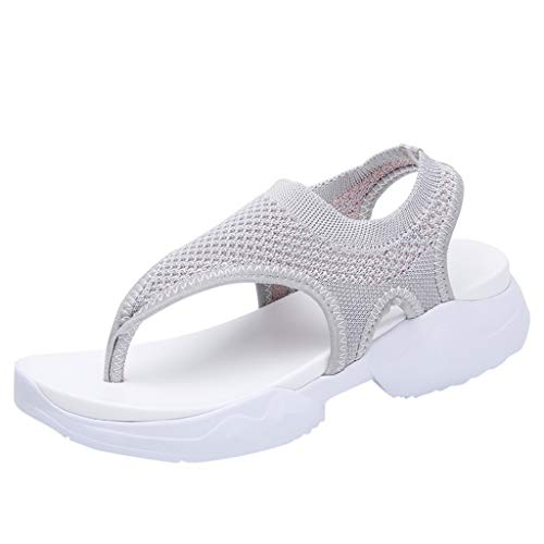 NEARTIMEWomen's Casual Sandals-Ladies Breathable Comfort Shoes Hollow Out Wedges Mesh Shoes Peep Toe Slippers