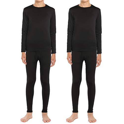 ViCherub Boys Thermal Underwear Fleece Lined Long Johns Kids Top & BottomWinter Warm Set Knit Base Layers for Boy