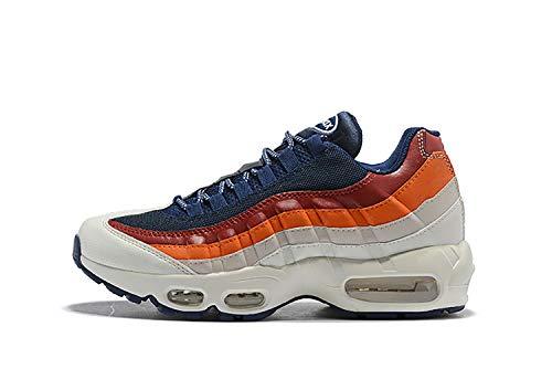 (MINGLI Liming Air Max 95 Essential Womens Running Shoe (7M US / 38, Blue red White))