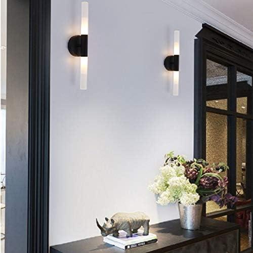 HXSA wall lamp E27 LED Schlafzimmer Nacht Hintergrund Wandleuchte Badezimmerspiegel Scheinwerfer ohne Lichtquelle (schwarz). (Color : Gold) Black