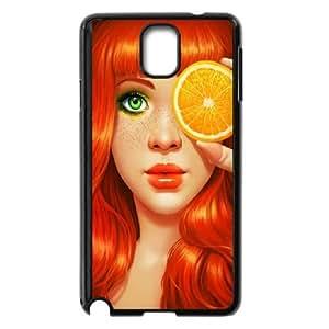 Samsung Galaxy Note 3 Cell Phone Case Black Redhead Girl K6T6JZ