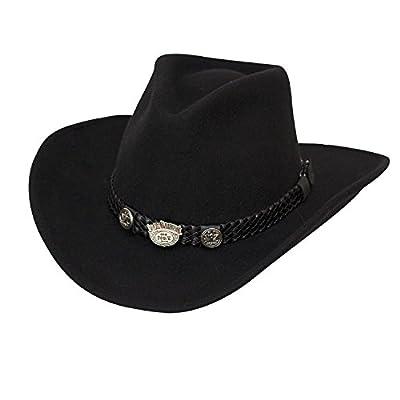 Jack Daniel's Hats Crushable Water Repellent Wool Western Cowboy Hat (Large)