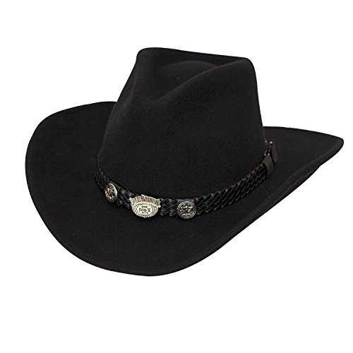 Jack Daniels Cowboy Hats - Jack Daniel's Hats Crushable Water Repellent Wool Western Cowboy Hat (Large)