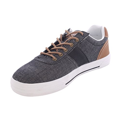 Us Polo Assn. - Hombre Helm In Chambray Sneakers - Negro