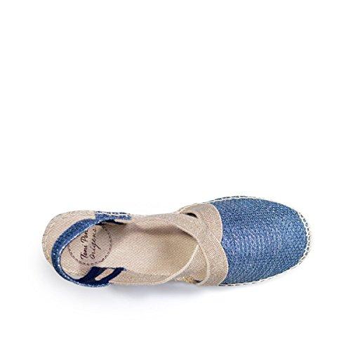 Toni Pons Keilsandalette Triton, Kleur: Zwart Navy Blue