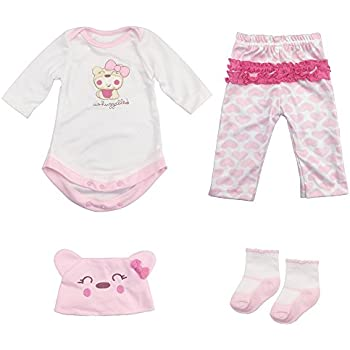 fd1c2689694c Reborn Baby Doll Outfits Accessories 4 Piece Set for 20