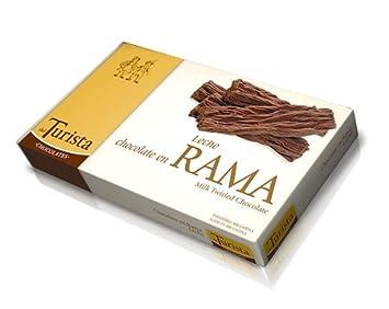 Del Turista Chocolates Leche Chocolate en Rama Leche (Milk Twirled Chocolate) 40g (1.41