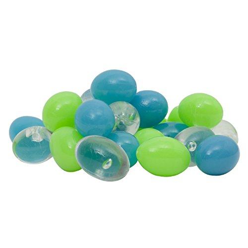 Pebbles Aquarium Gravel (GloFish Accent Gravel for Aquarium, Blue/Green/Clear Pebbles)