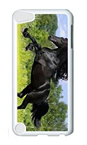 Ipod 5 Case,MOKSHOP Awesome Wild Stallion Hard Case Protective Shell Cell Phone Cover For Ipod 5 - PC White