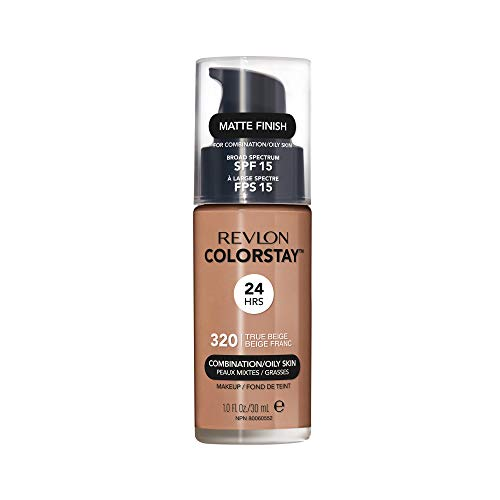 Revlon ColorStay Liquid Foundation For Combination/oily Skin, SPF 15 True Beige, 1 Fl Oz
